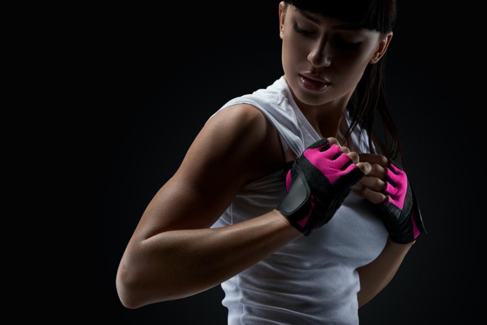 moderné fitness rukavice