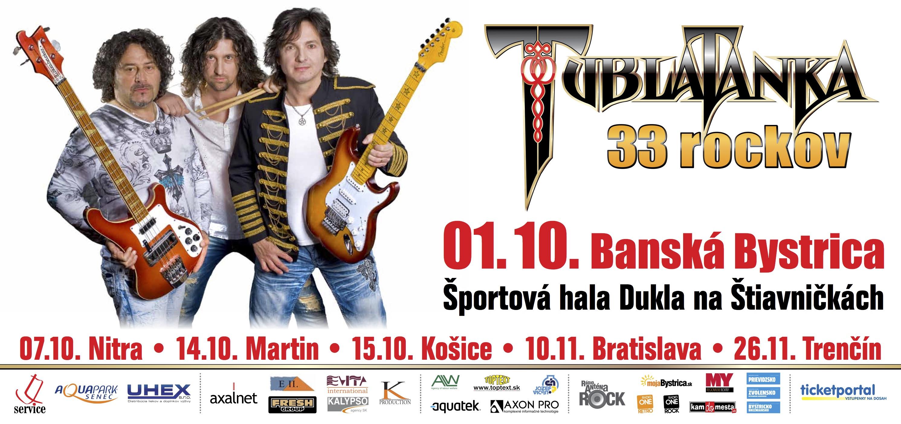 ddae6c5e2db3a TUBLATANKA 33 rockov - oslavovať sa bude - Kam v meste | moja Bystrica
