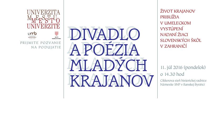 9bec437b939 Divadlo a poézia mladých krajanov - Katalóg firiem