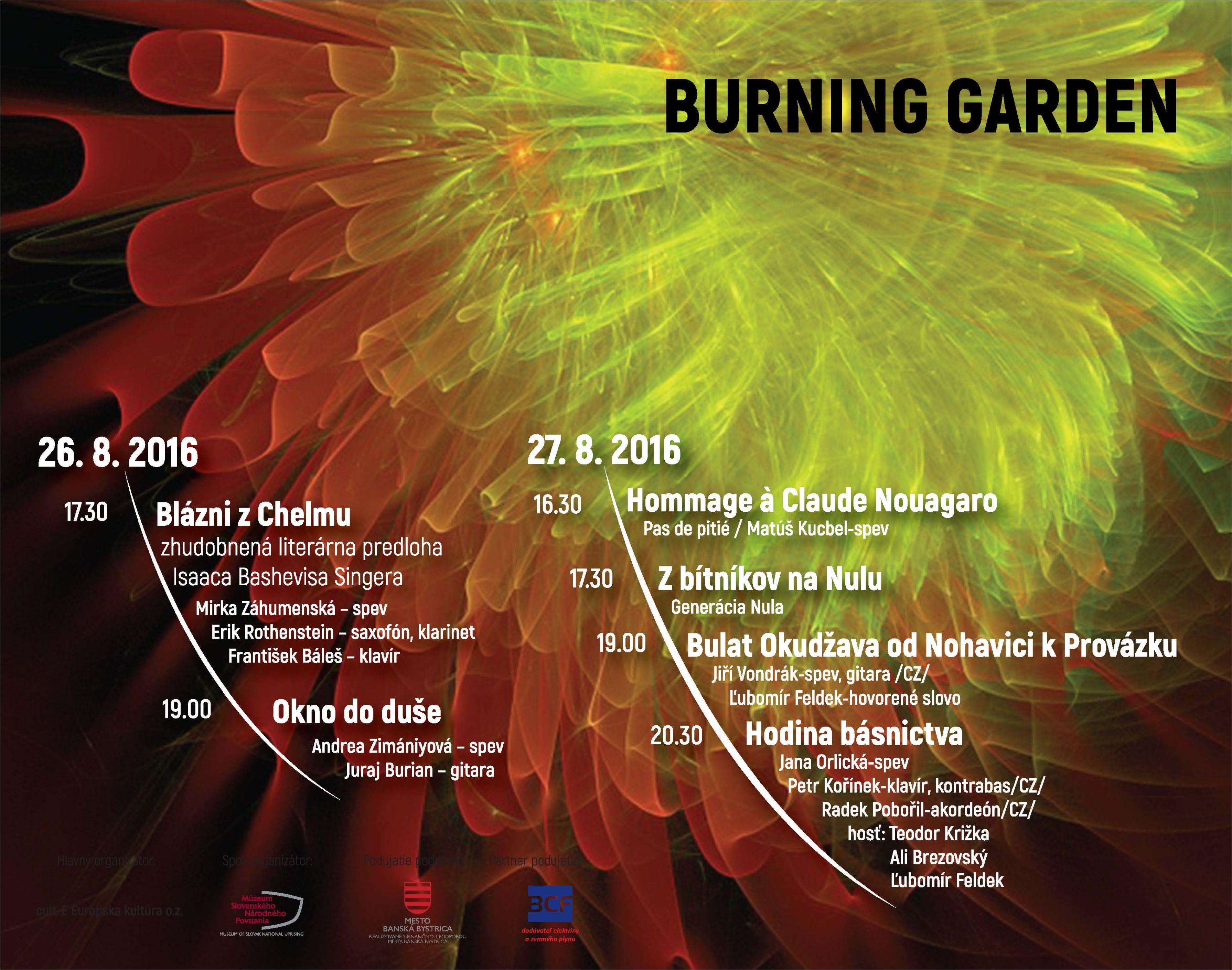 1712de5023f Burning garden - Medzinárodný festival š - Kam v meste